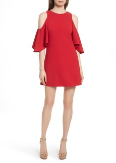 Alice + Olivia Coley Cold Shoulder A-Line Dress