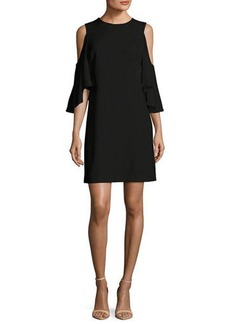 Alice + Olivia Coley Cold-Shoulder Jewel-Neck A-line Cocktail Dress