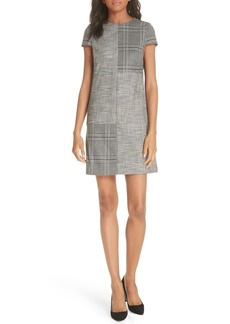 Alice + Olivia Coley Mix Plaid Sheath Dress