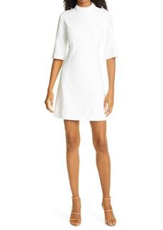 Alice + Olivia Coley Mock Neck A-Line Minidress