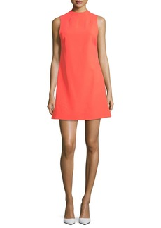 Alice + Olivia Coley Mock-Neck Sleeveless A-Line Dress
