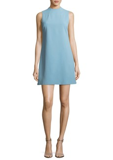 Alice + Olivia Coley Mock-Neck Sleeveless A-Line Mini Dress