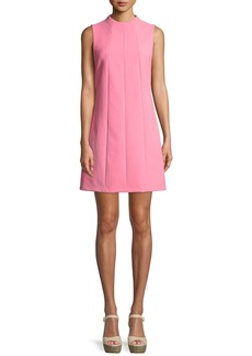 Alice + Olivia Coley Mock-Neck Sleeveless Seamed A-Line Mini Dress