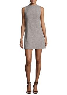Alice + Olivia Coley Mock-Neck Straight A-line Mini Dress