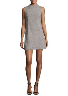 Alice + Olivia Coley Mock-Neck Straight A-line Mini Dress