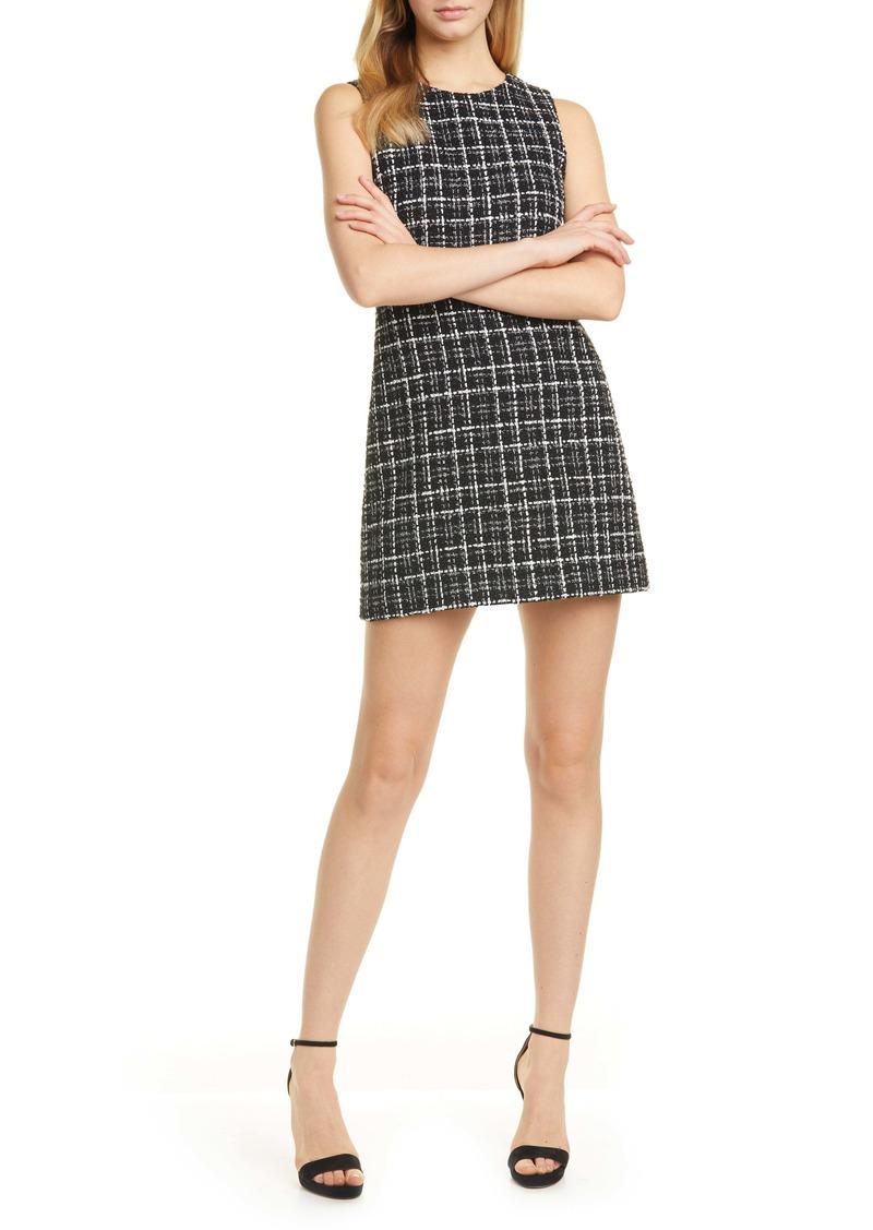 Alice + Olivia Coley Plaid Tweed A-Line Dress