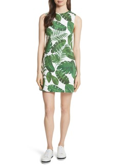 Alice + Olivia Coley Print A-Line Dress