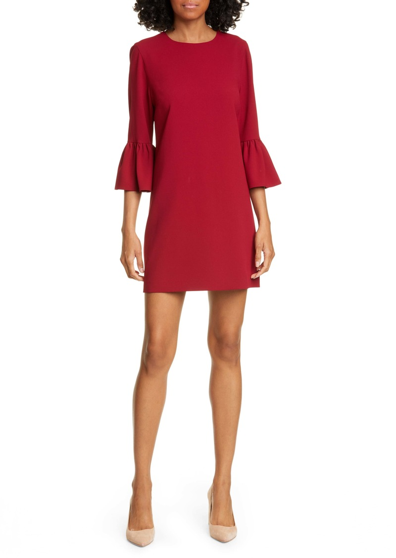 Alice + Olivia Coley Ruffle Sleeve A-Line Dress