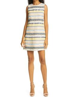 Alice + Olivia Coley Texture Stripe A-Line Dress
