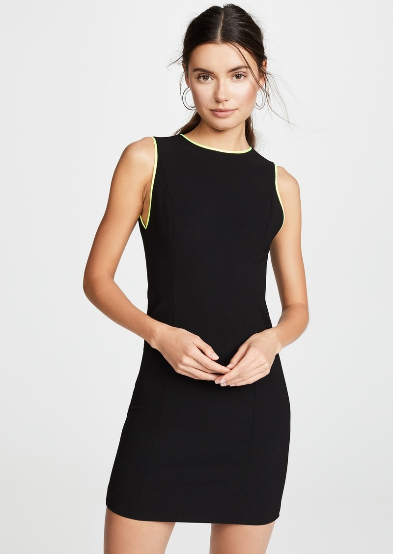 alice + olivia Colin Colorblock Crew Neck Sleeveless Dress