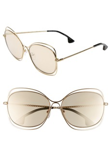 Alice + Olivia Collins 60mm Butterfly Sunglasses