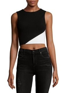 Alice + Olivia Colorblock Cropped Top