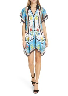 Alice + Olivia Conner Handkerchief Hem Dress