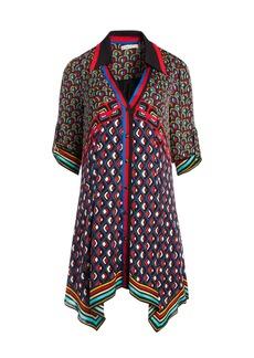 alice + olivia CONNER HANDKERCHIEF SHIRT DRESS