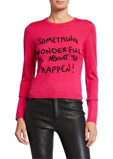 Alice + Olivia Connie Embellished Pullover Sweater