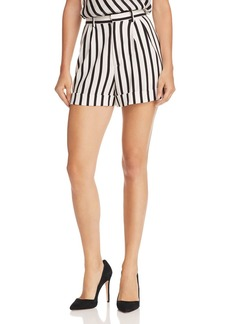Alice + Olivia Conry Pleated Striped Shorts