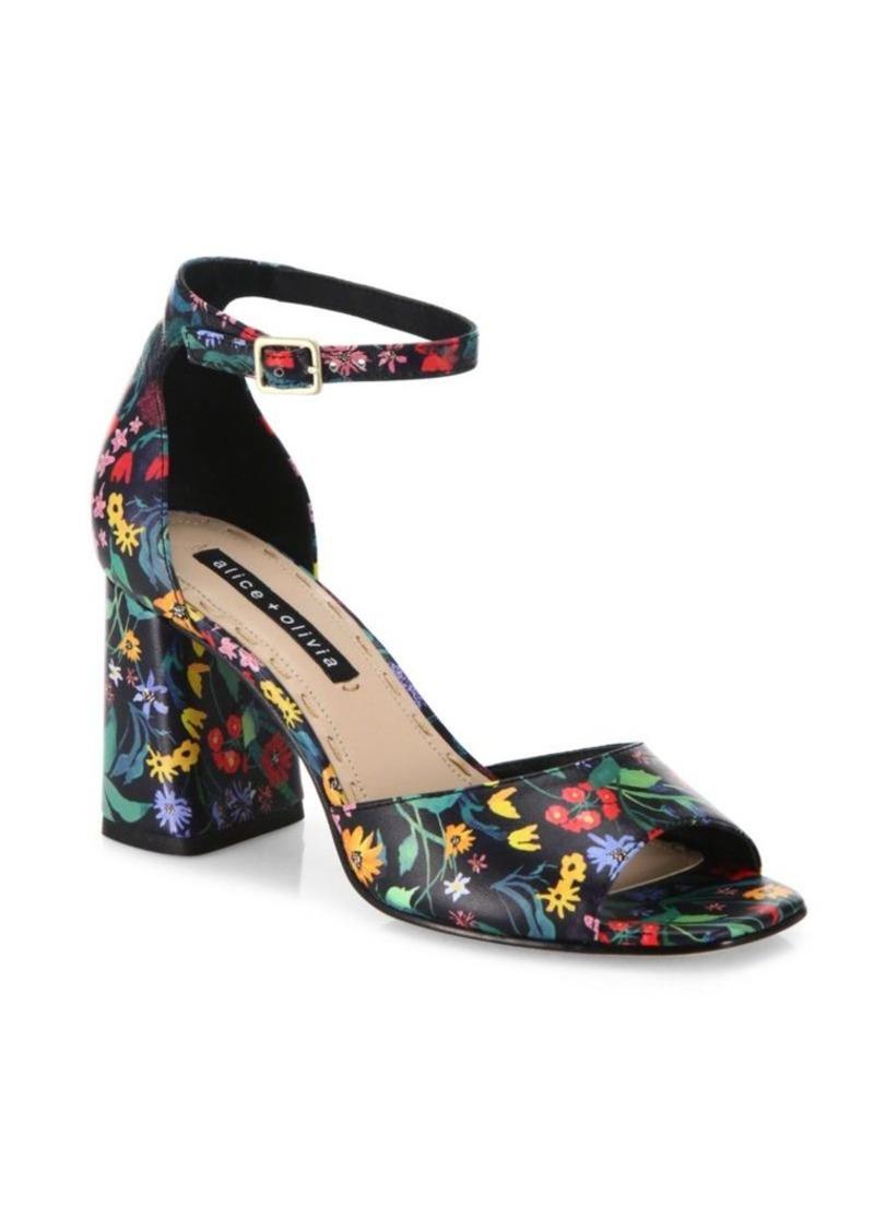 f2ba9ebef Alice + Olivia Alice + Olivia Cooper Floral Leather Block Heel ...
