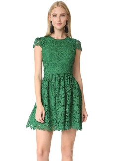 alice + olivia Corina Cap Sleeve Party Dress