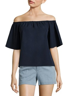 Alice + Olivia Crosby Off-The-Shoulder Cotton Top
