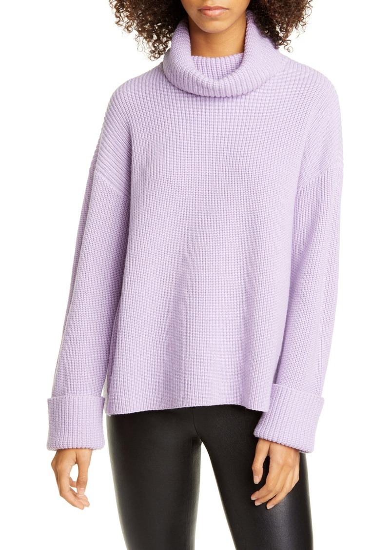 Alice + Olivia Cross Back Wool & Cotton Blend Sweater