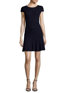 Alice + Olivia Dacey Textured Wool Dress