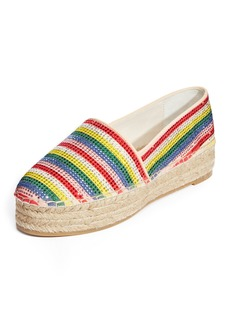 Alice + Olivia Dalyn Crystal-Striped  Espadrille Flat