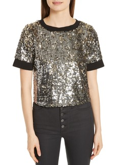 Alice + Olivia Danica Sequin Crop Top