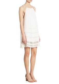 Alice + Olivia Danna Lace Inset Dress