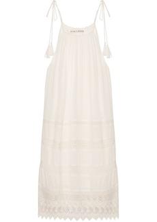 Danna lace-trimmed crepon mini dress