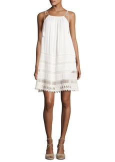 Alice + Olivia Danna Tie-Strap Short Dress
