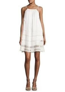 Alice + Olivia Danna Tie-Strap Short Dress