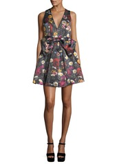 Alice + Olivia Daralee Sleeveless Bow-Front Party Dress