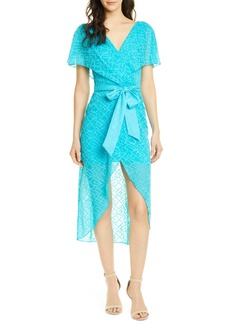 Alice + Olivia Darva Faux Wrap Party Dress