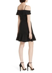 Alice + Olivia Dash Cold Shoulder Faux Wrap Dress
