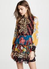 alice + olivia Dasha Tiered Ruffle Dress