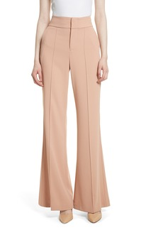Alice + Olivia Dawn High Waist Front Pintuck Flared Pants