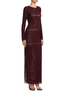 Alice + Olivia Dawna Lace Maxi Dress