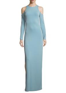Alice + Olivia Dawna Side-Slit Cutout Maxi Dress