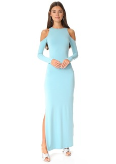 alice + olivia Dawna Side Slit Maxi Dress
