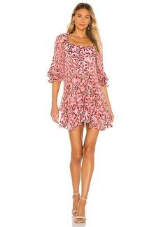 Alice + Olivia Debra Square Neck Skirt Tunic Dress
