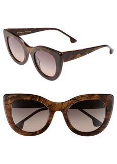 Alice + Olivia Delancey 51mm Cat Eye Sunglasses