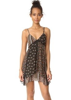 alice + olivia Delilah Lace Insert Double Layer Dress