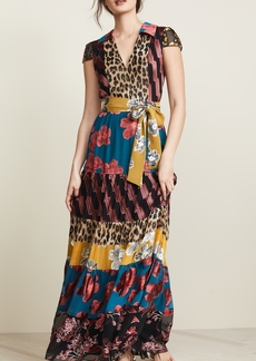 alice + olivia Della Maxi Dress with Waist Tie