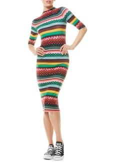 Alice + Olivia Delora Boho Geo Print Dress