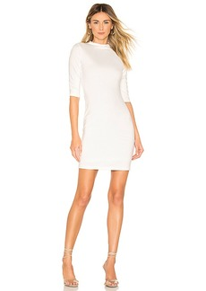 Alice + Olivia Delora Fitted Mock Neck Mini Dress
