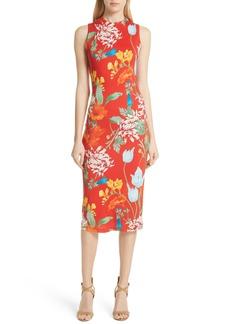Alice + Olivia Delora Floral Sleeveless Body-Con Dress