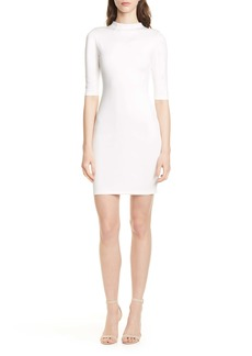 Alice + Olivia Delora Funnel Neck Body-Con Dress