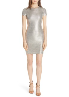 Alice + Olivia Delora Metallic Body-Con Dress