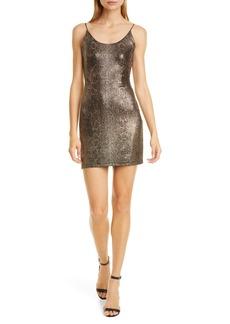Alice + Olivia Delora Metallic Snake Print Body-Con Minidress