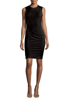 Alice + Olivia Delores Side-Pleat Fitted Tank Dress